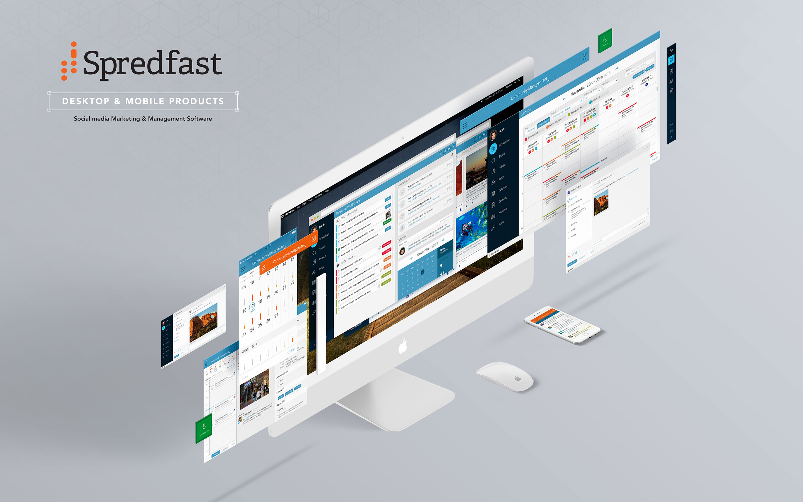 Spredfast Desktop & Mobile Product-Social media Marketing & Management Software